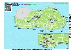 伊江島のガイドマップ