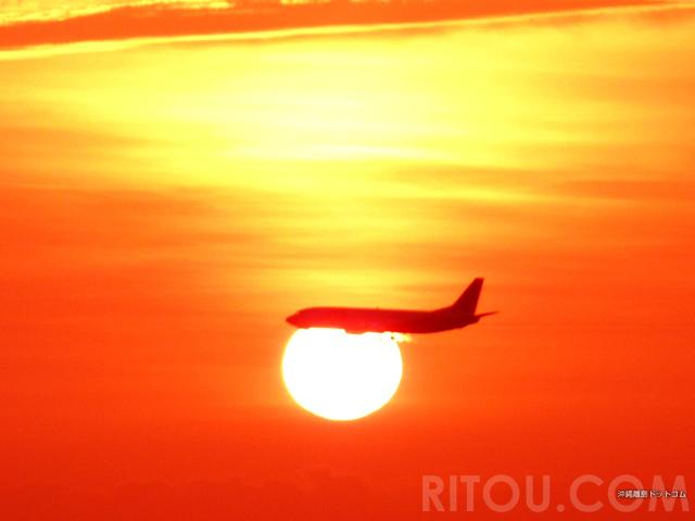 ヤバすぎ!夕日に飛び込む航空機!沖縄の空港近くの絶景4選