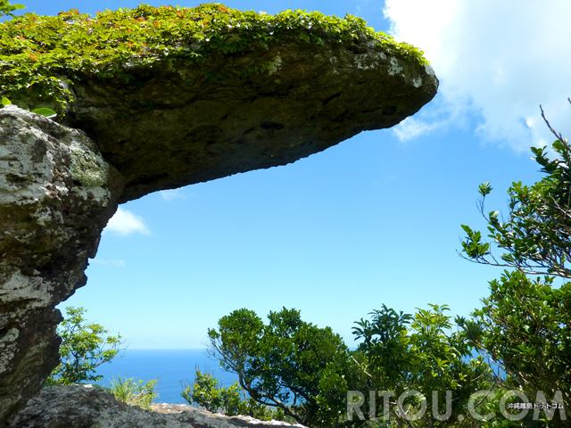 沖縄に奇跡の岩「トロルの舌」!石垣島の屋良部岳頂上で発見